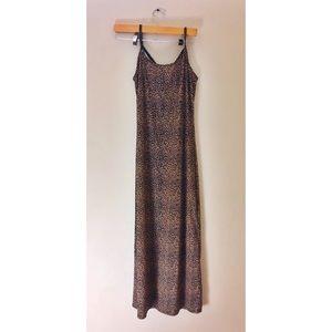 Long cheeta print slip dress vintage/Molly Malloy